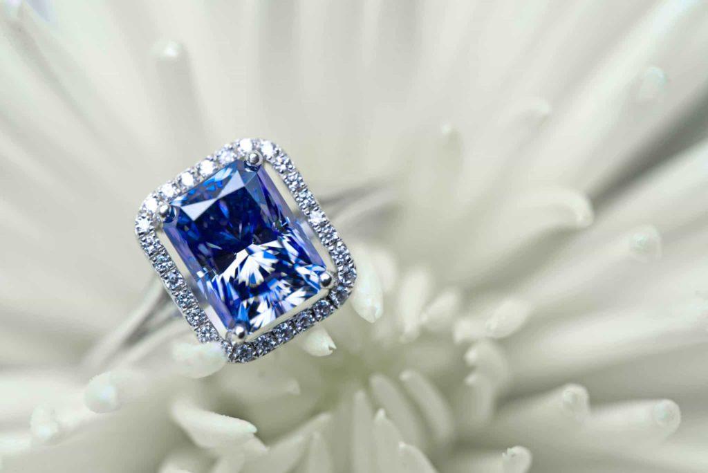 saphir bague diamant