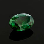 This oval cut gem is the first emerald from Madagascar in the National Gem Collection. It exhibits a deep green color and has had no clarity enhancements, like oiling, which are typical for faceted emeralds.