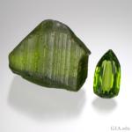 Péridot- Grass Green Color - Source GIA.Edu Photo R.Weldon