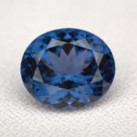 Spinelle Blue Spinel (NMNH G10629) 14.02cts Tajikistan Photo Chip Clark Source Smithsonian Institute